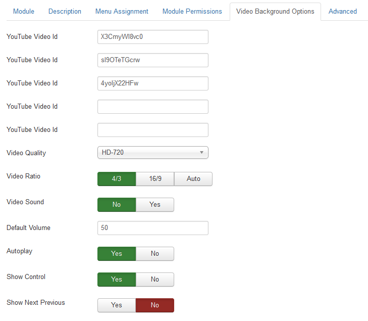 Page Background Changer With Video 2 5 - Joomla! Share