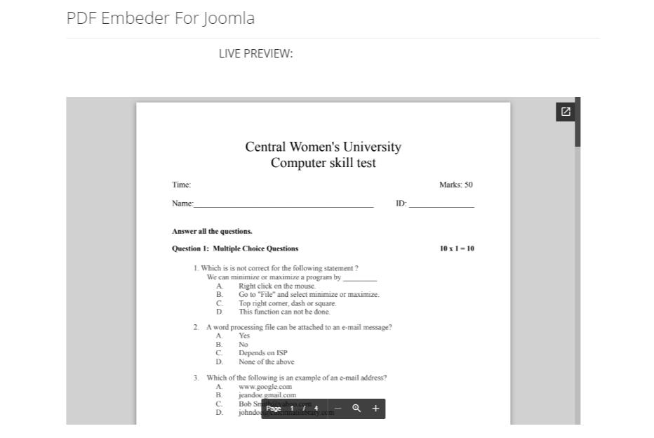 PDF Embedder 3 0 - Joomla! Share